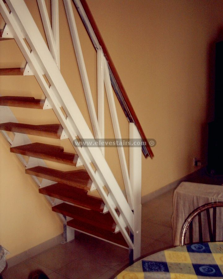 Alternated treads stairs design space saving stairs - Space saving stair design ...