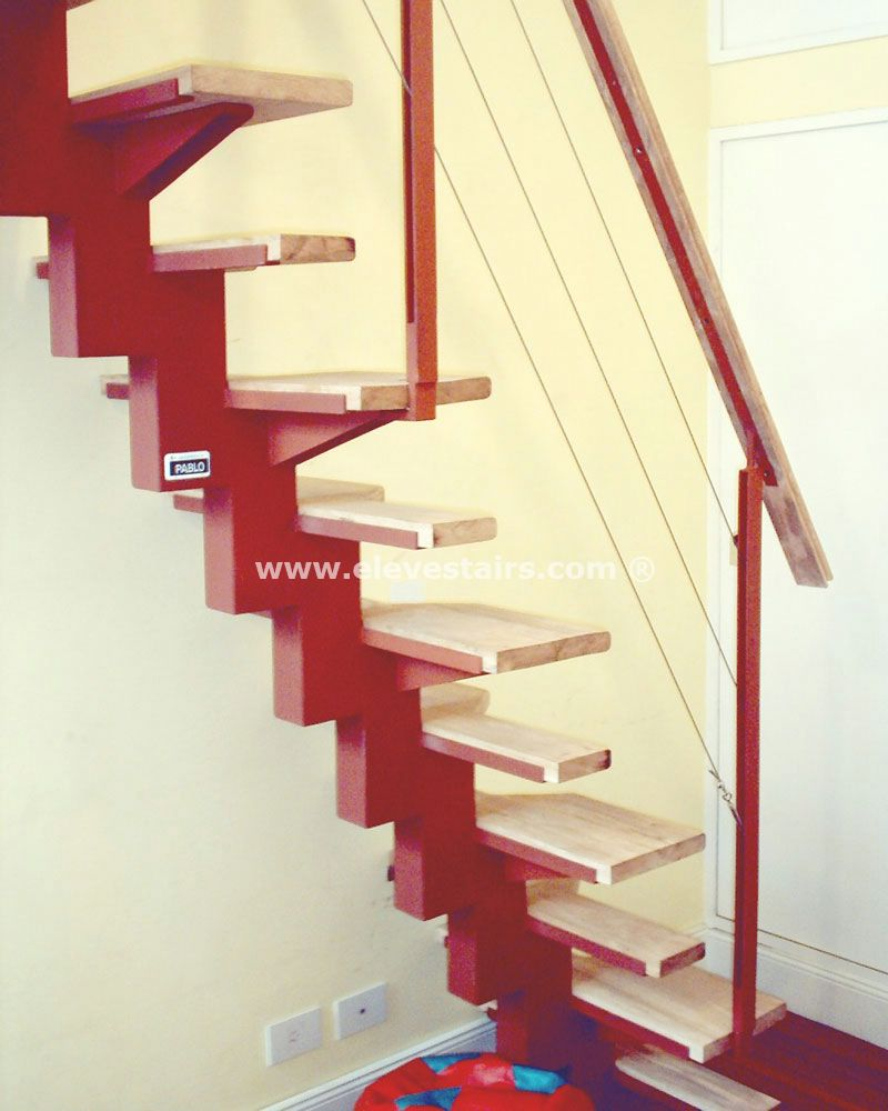Alternated treads stairs design space saving stairs - Escaleras de hierro ...