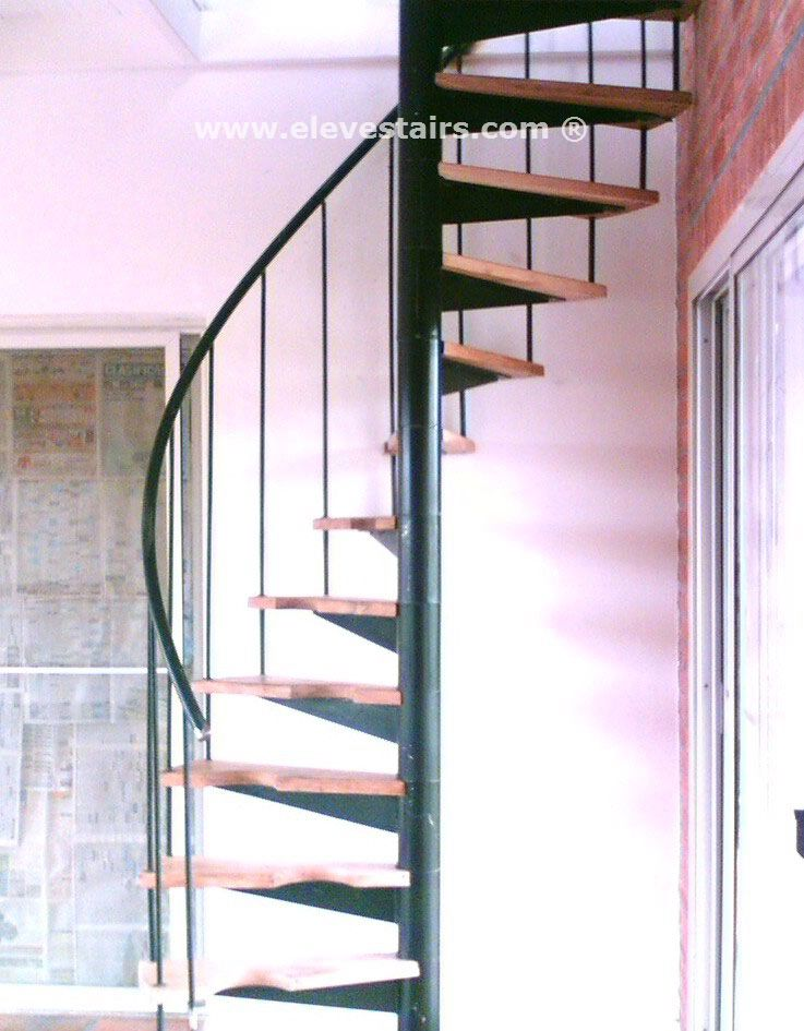 Half spiral stairs space saving stairs hillocks garrets for Half spiral staircase