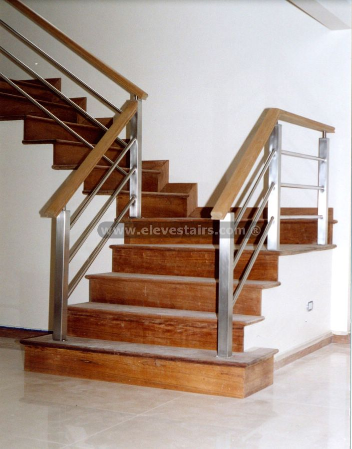 Stainless Steel Railings And Wood Handrails
