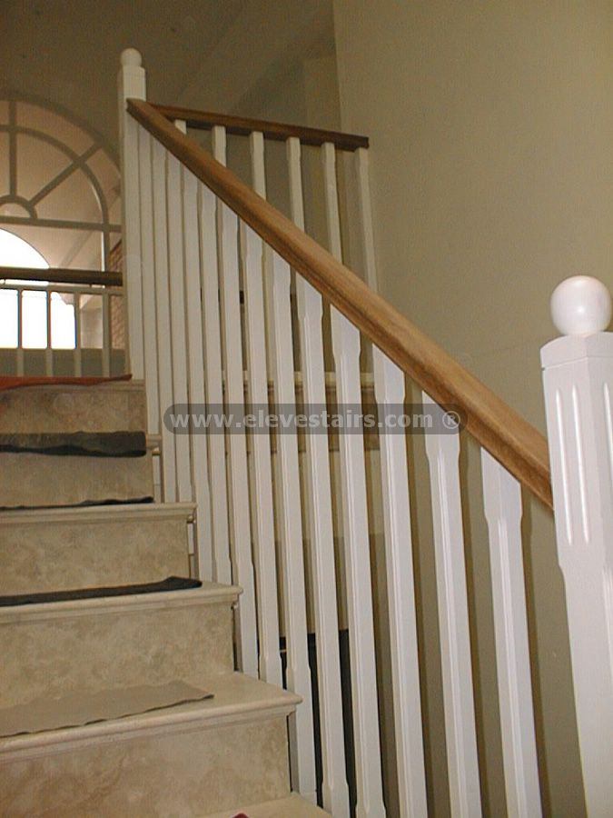 wood handrails for stairs | Stair Railings, Balusters, Handrails