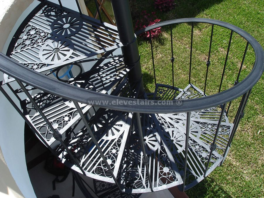 Outdoor Spiral Staircase Kit Image Gallery Exterior