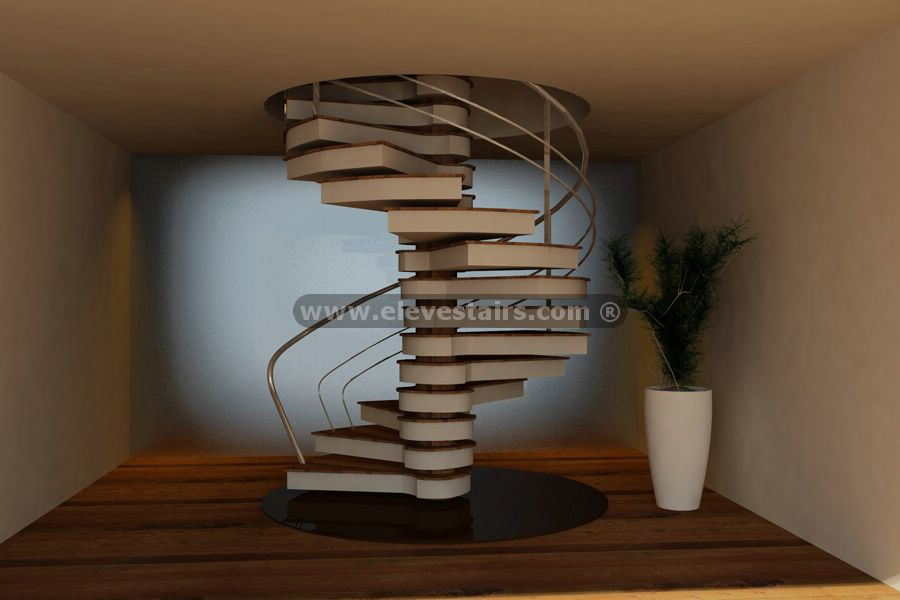 Special Circular Stairs Spiral Stair Eleve Metalic