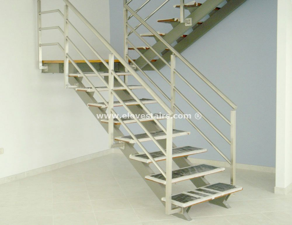 Special Straight Stairs Eleve Kit Modular Wood Steel Metal