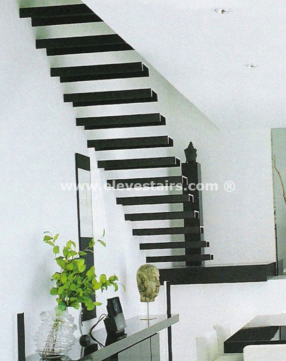 Special straight stairs eleve kit modular wood steel - Escaleras de madera para interiores ...