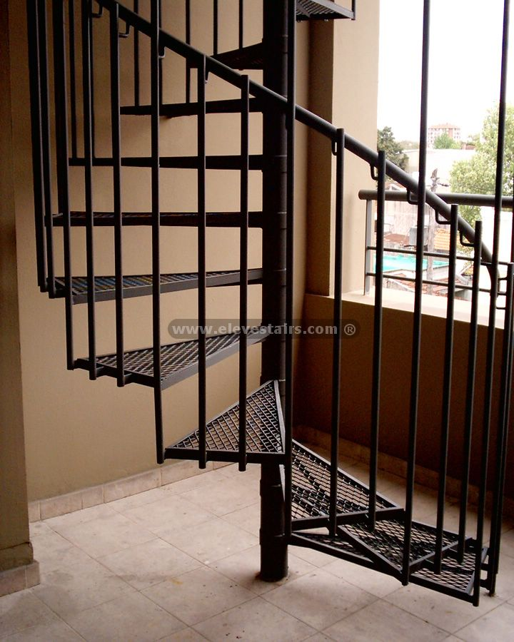 Spiral Stairs, Kit, Modular, Pre-Built Stairs, Metallurgies, Wood ...