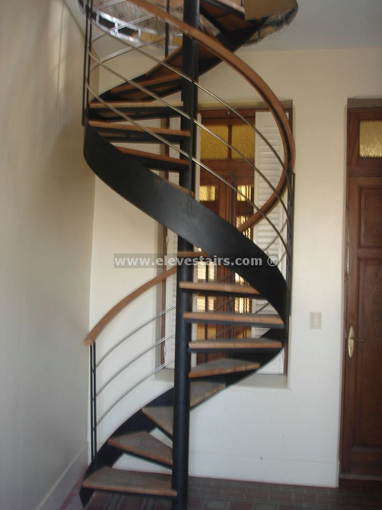Spiral stairs with circular tape for interior and exterior for Spiral stair design