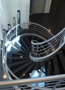 Spiral Glass Stairs