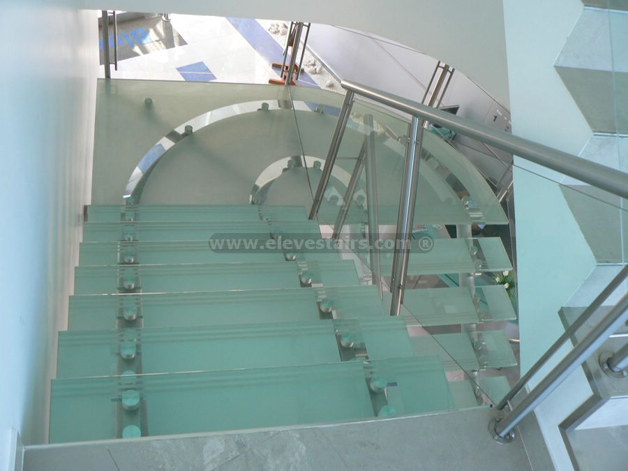 straight glass stairs crystal stairs. Black Bedroom Furniture Sets. Home Design Ideas