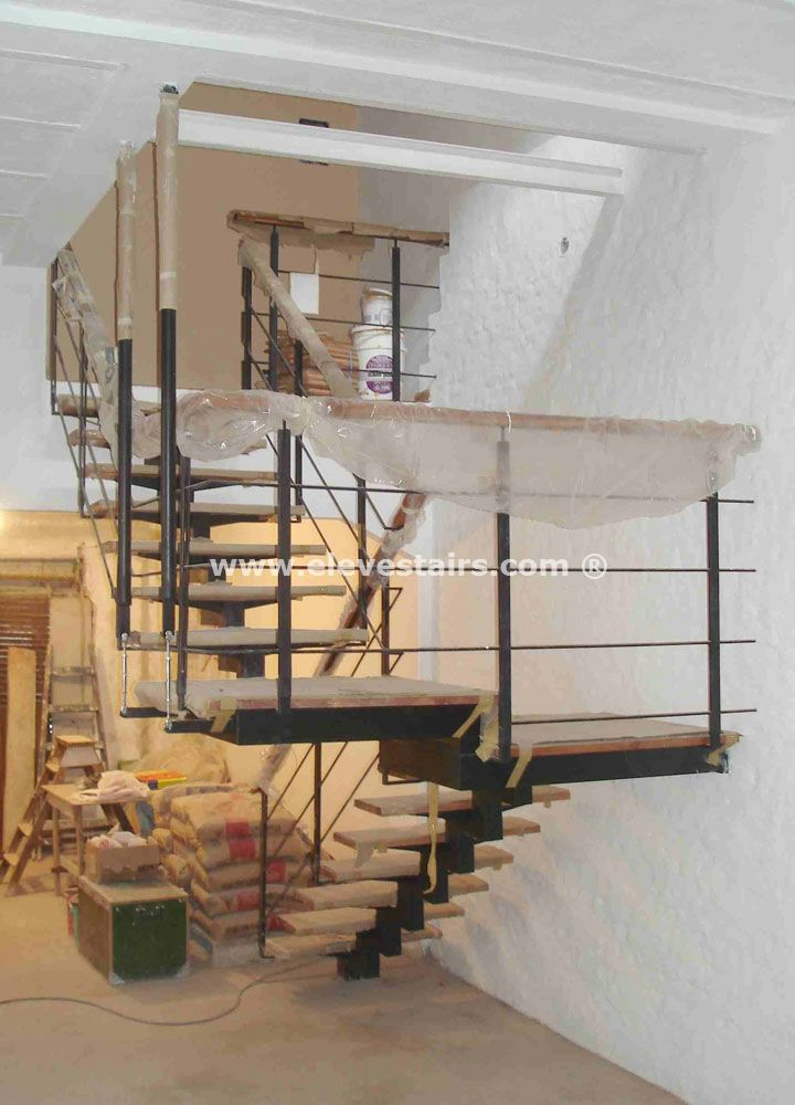 Design stairs custom built stairs - Home designer stairs with landing ...