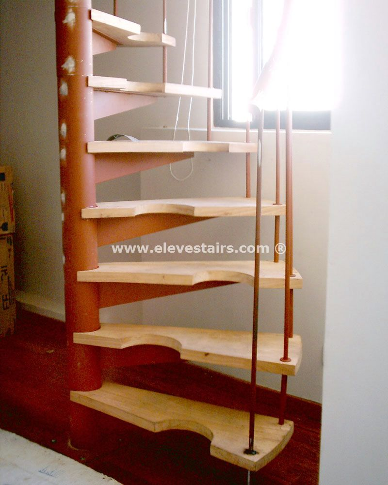 Space Saving Staircase Designs: Half Spiral Stairs, Space Saving Stairs, Hillocks, Garrets